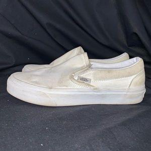 White Slip On Classic Vans